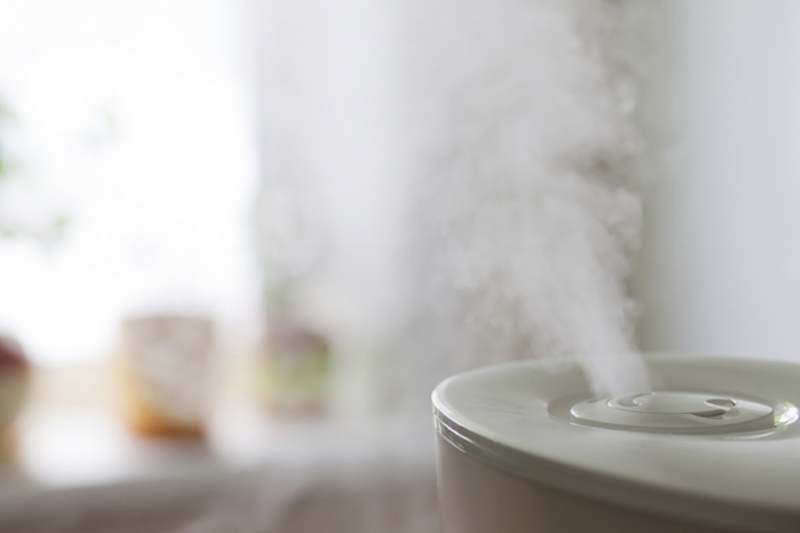 Humidifier in a home